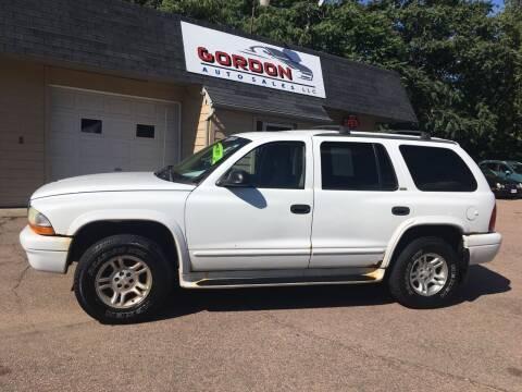 2002 Dodge Durango for sale at Gordon Auto Sales LLC in Sioux City IA
