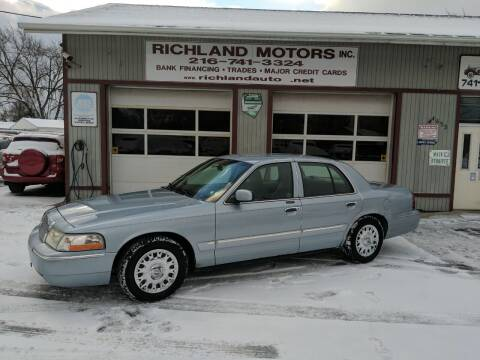 2003 Mercury Grand Marquis for sale at Richland Motors in Cleveland OH