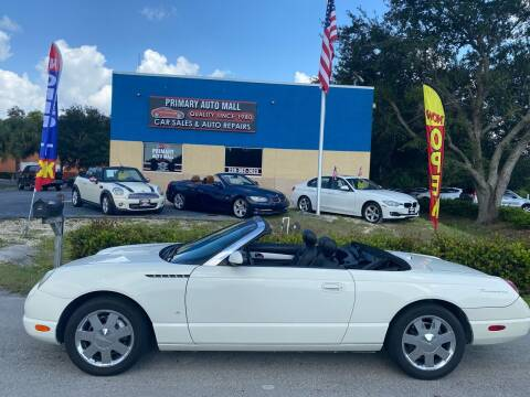2003 Ford Thunderbird for sale at Primary Motors Inc - Primary Auto Mall in Fort Myers FL