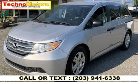 2013 Honda Odyssey for sale at Techno Motors in Danbury CT