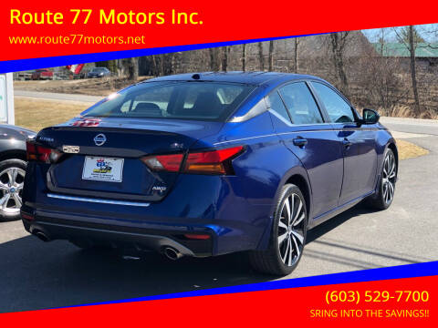 2019 Nissan Altima for sale at Route 77 Motors Inc. in Weare NH