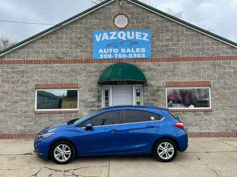 2017 Chevrolet Cruze for sale at VAZQUEZ AUTO SALES in Bloomington IL