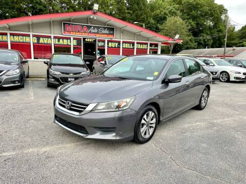 2015 Honda Accord for sale at Mira Auto Sales in Raleigh NC