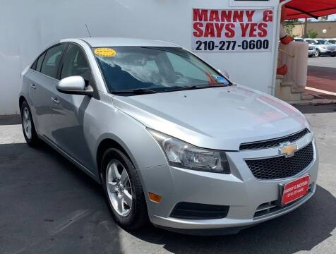 2014 Chevrolet Cruze for sale at Manny G Motors in San Antonio TX