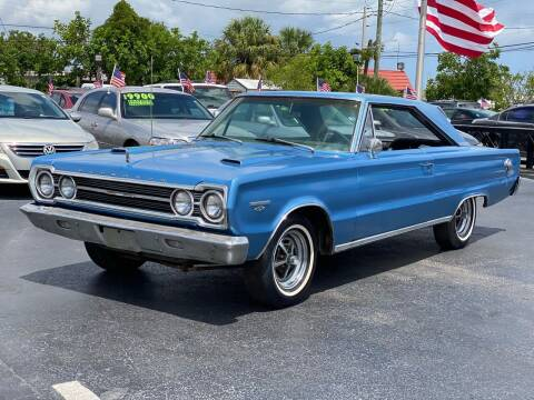 1967 Plymouth GTX for sale at KD's Auto Sales in Pompano Beach FL