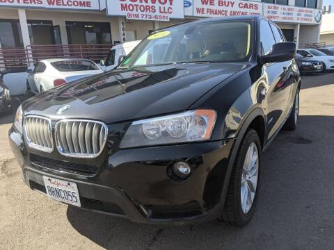 2014 BMW X3 for sale at Convoy Motors LLC in National City CA