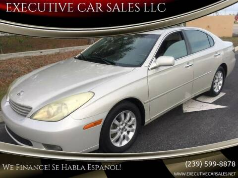 2004 Lexus ES 330 for sale at EXECUTIVE CAR SALES LLC in North Fort Myers FL