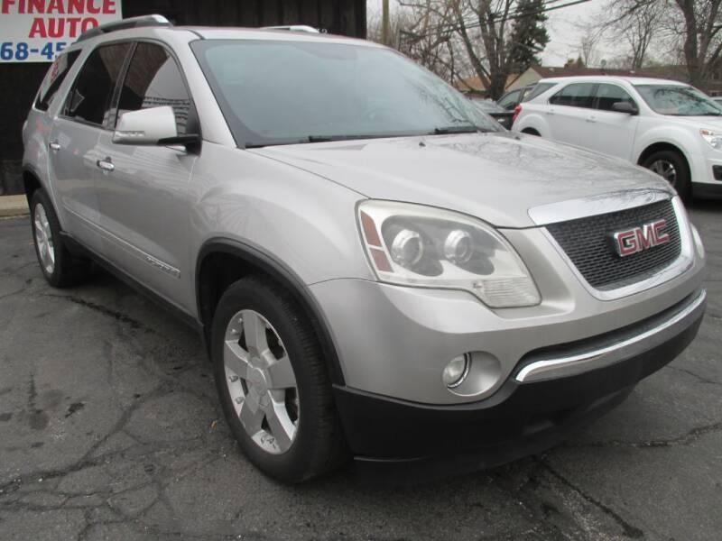 2008 GMC Acadia for sale at EZ Finance Auto in Calumet City IL