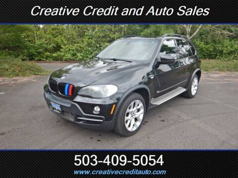 2008 BMW X5 for sale at Creative Credit & Auto Sales in Salem OR