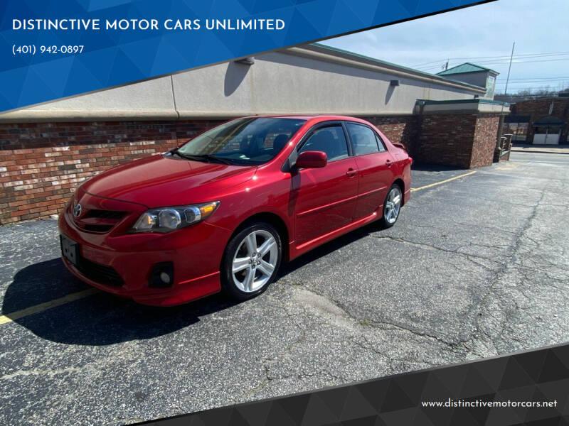 2013 Toyota Corolla for sale at DISTINCTIVE MOTOR CARS UNLIMITED in Johnston RI
