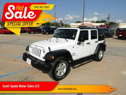 2017 Jeep Wrangler Unlimited for sale at Scott Spady Motor Sales LLC in Hastings NE