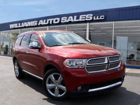 2013 Dodge Durango for sale at Williams Auto Sales, LLC in Cookeville TN