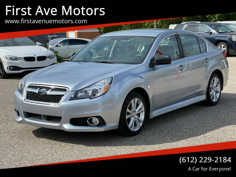 2014 Subaru Legacy for sale at First Ave Motors in Shakopee MN