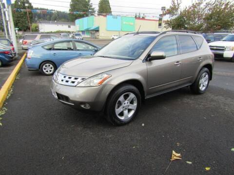 2004 Nissan Murano for sale at ARISTA CAR COMPANY LLC in Portland OR