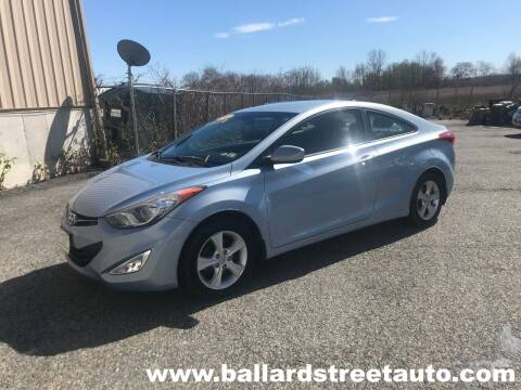 2013 Hyundai Elantra Coupe for sale at Ballard Street Auto in Saugus MA