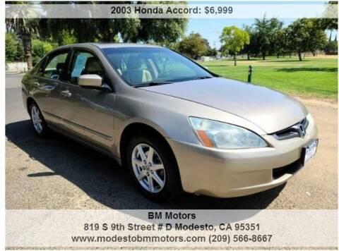 2003 Honda Accord for sale at BM Motors in Modesto CA