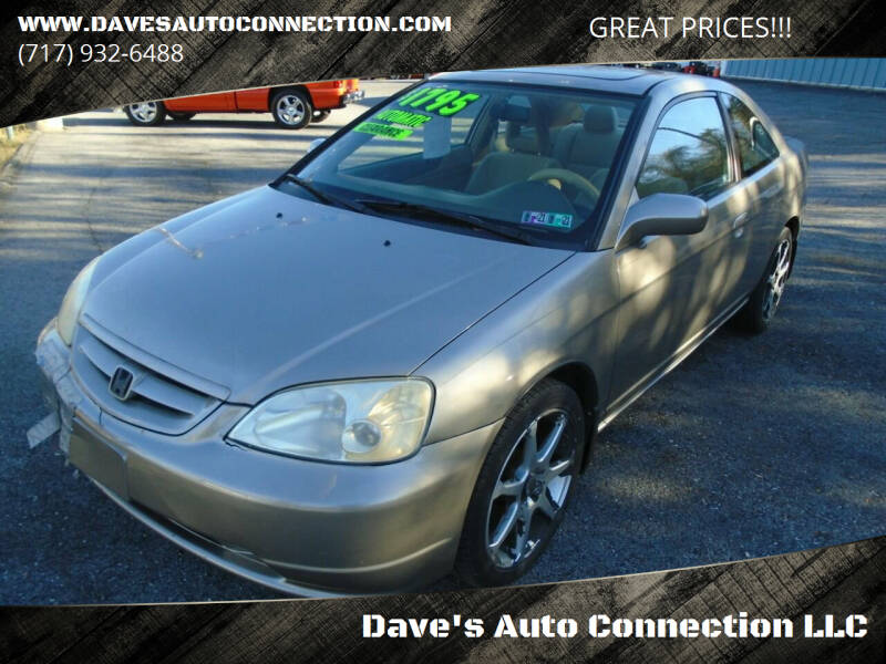 2003 Honda Civic for sale at Dave's Auto Connection LLC in Etters PA