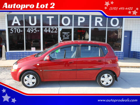 2007 Chevrolet Aveo for sale at Autopro Lot 2 in Sunbury PA