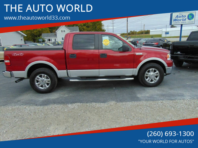 2008 Ford F-150 for sale at THE AUTO WORLD in Churubusco IN