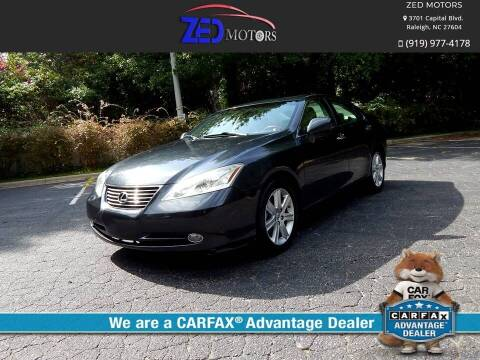 2007 Lexus ES 350 for sale at Zed Motors in Raleigh NC