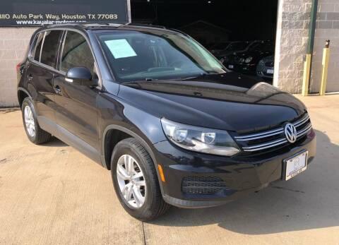 2013 Volkswagen Tiguan for sale at KAYALAR MOTORS - ECUFAST HOUSTON in Houston TX