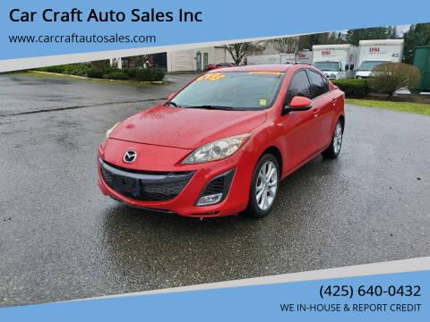 2010 Mazda MAZDA3 for sale at Car Craft Auto Sales Inc in Lynnwood WA