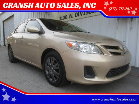 2012 Toyota Corolla for sale at CRANSH AUTO SALES, INC in Arlington TX