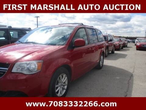 2016 Dodge Grand Caravan for sale at First Marshall Auto Auction in Harvey IL