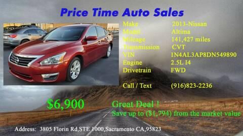 2013 Nissan Altima for sale at PRICE TIME AUTO SALES in Sacramento CA