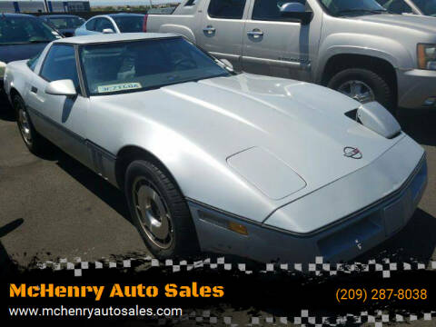 1984 Chevrolet Corvette for sale at McHenry Auto Sales in Modesto CA