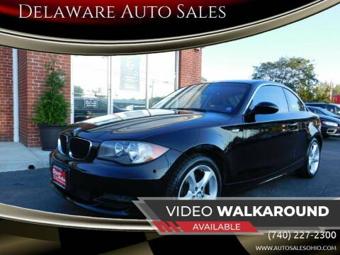 2009 BMW 1 Series for sale at Delaware Auto Sales in Delaware OH