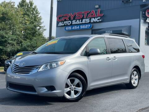 2017 Toyota Sienna for sale at Crystal Auto Sales Inc in Nashville TN