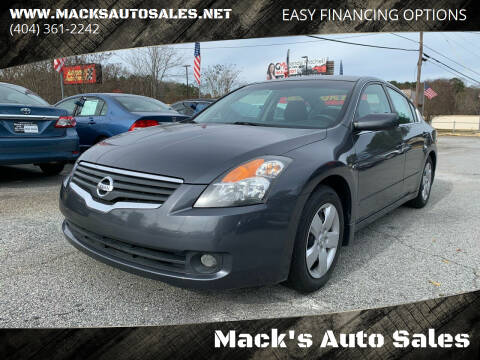 2007 Nissan Altima for sale at Mack's Auto Sales in Forest Park GA
