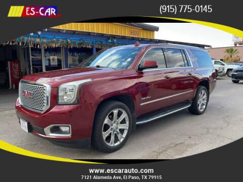 2016 GMC Yukon XL for sale at Escar Auto in El Paso TX