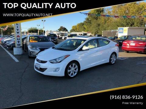 2013 Hyundai Elantra for sale at TOP QUALITY AUTO in Rancho Cordova CA