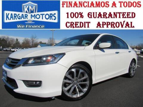 2015 Honda Accord for sale at Kargar Motors of Manassas in Manassas VA