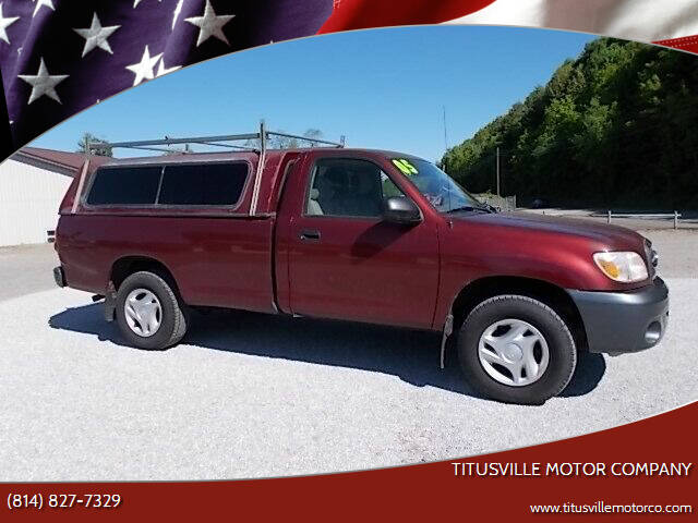 2005 Toyota Tundra for sale at Titusville Motor Company in Titusville PA