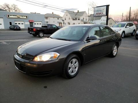 2008 Chevrolet Impala for sale at Pafumi Auto Sales in Indian Orchard MA