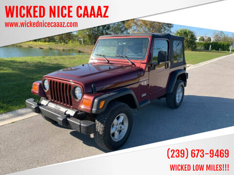 2002 Jeep Wrangler for sale at WICKED NICE CAAAZ in Cape Coral FL