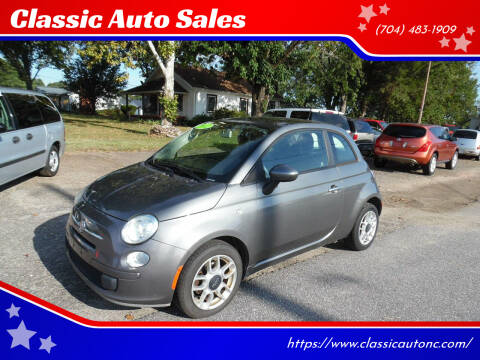 2012 FIAT 500 for sale at Classic Auto Sales in Maiden NC