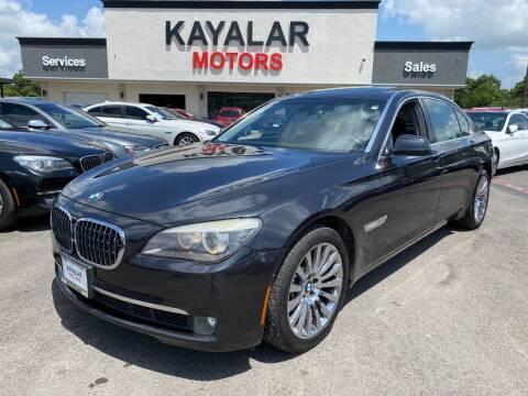2009 BMW 7 Series for sale at KAYALAR MOTORS in Houston TX