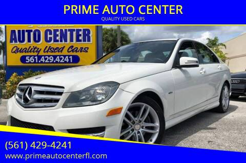 2012 Mercedes-Benz C-Class for sale at PRIME AUTO CENTER in Palm Springs FL