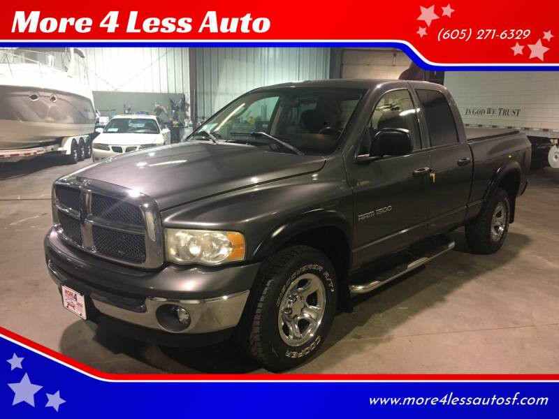 2003 Dodge Ram Pickup 1500 for sale at More 4 Less Auto in Sioux Falls SD