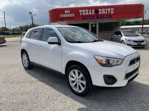 2013 Mitsubishi Outlander Sport for sale at Texas Drive LLC in Garland TX