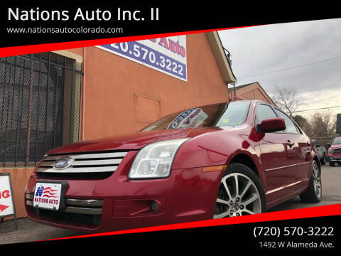 2008 Ford Fusion for sale at Nations Auto Inc. II in Denver CO