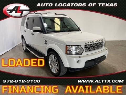 2013 Land Rover LR4 for sale at AUTO LOCATORS OF TEXAS in Plano TX
