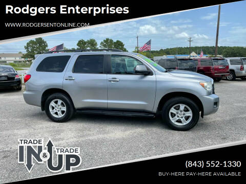 2012 Toyota Sequoia for sale at Rodgers Enterprises in North Charleston SC