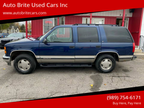 1999 GMC Yukon for sale at Auto Brite Used Cars Inc in Saginaw MI