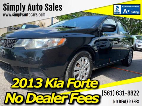 2013 Kia Forte for sale at Simply Auto Sales in Palm Beach Gardens FL