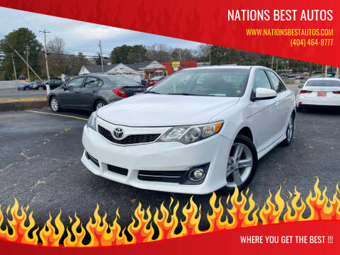 2012 Toyota Camry for sale at Nations Best Autos in Decatur GA
